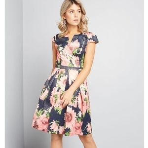 NWT Modcloth Personal Boldness Fit & Flare Dress